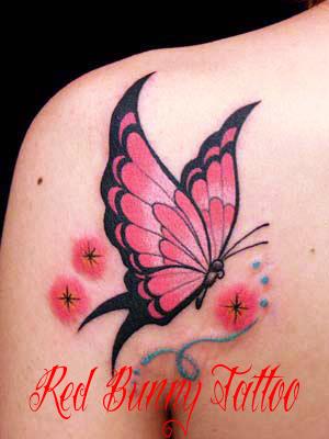 butterfly tattoo 蝶 タトゥーデザイン・画像の紹介 女性のワンポイントタトゥー