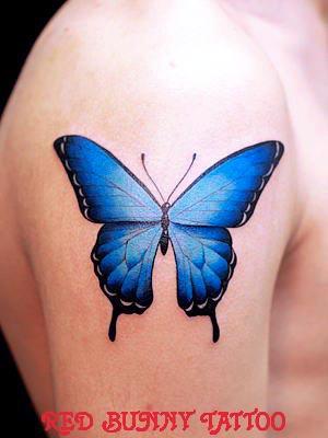 蝶 タトゥーデザイン/画像の紹介 女性のワンポイントタトゥー