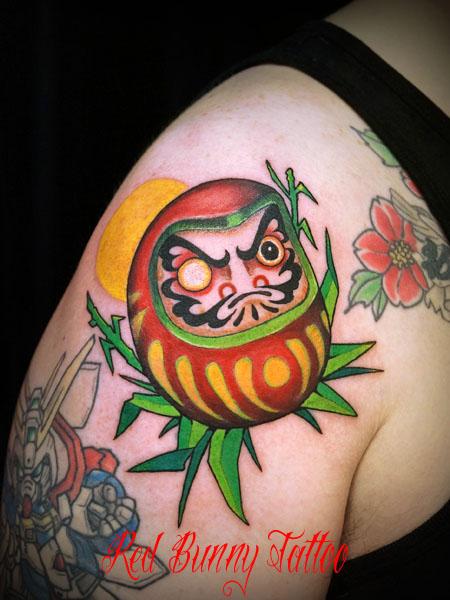 達磨・ダルマの刺青・タトゥーデザイン daruma tattoo