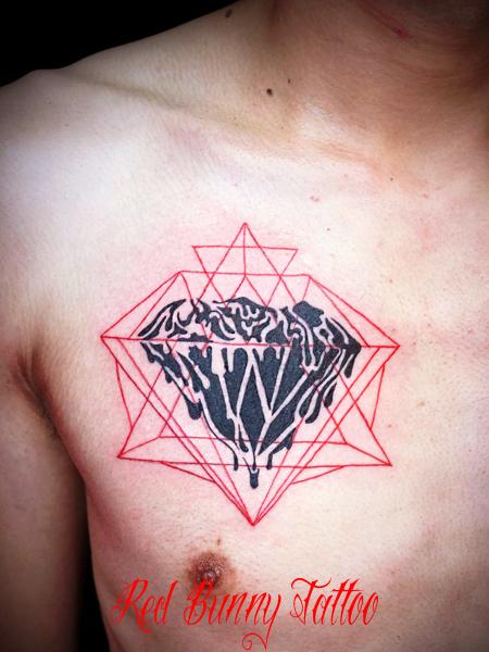 ダイヤモンド タトゥーデザイン diamond tattoo