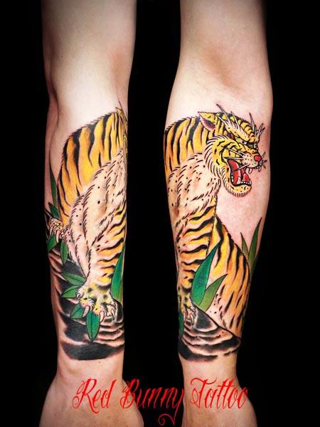 虎の刺青・タトゥーデザイン tiger tattoo