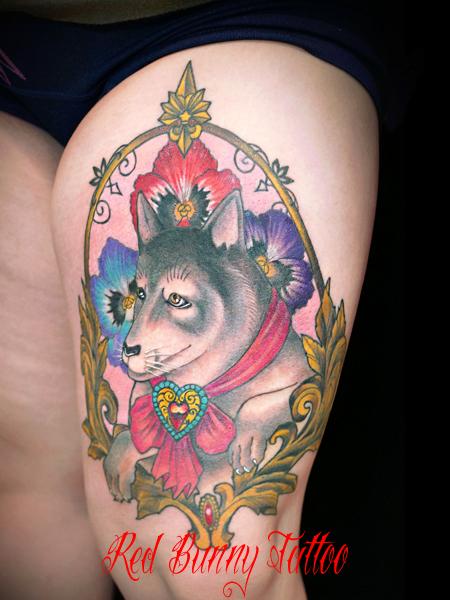 狼 タトゥーデザイン wolf tattoo