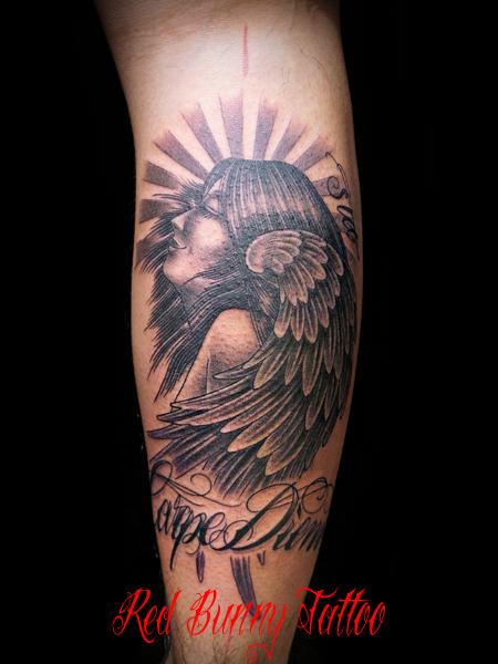 天使・マリア タトゥーデザイン angel Virgin Mary tattoo