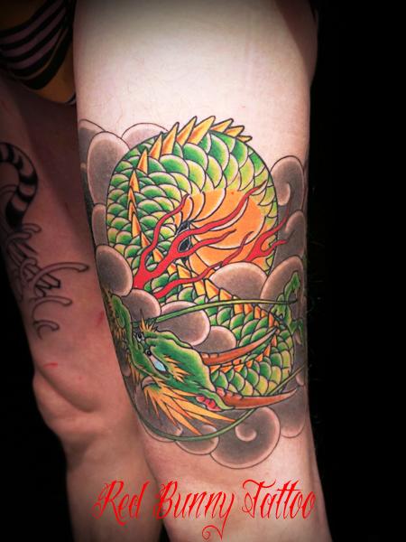 龍 刺青・和彫り・タトゥーデザイン