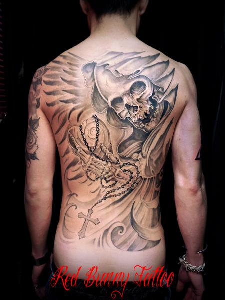 死神 タトゥーデザイン Grim Reaper tattoo skull