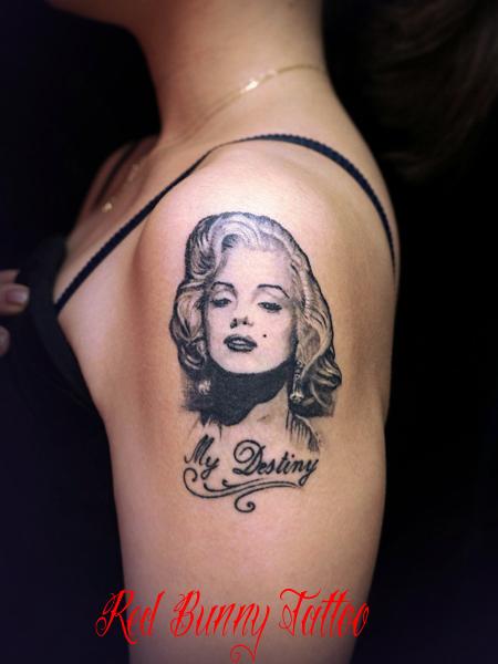 マリリンモンロー タトゥーデザイン Marilyn Monroe tattoo