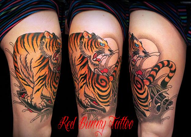 刺青 虎 タトゥーデザイン