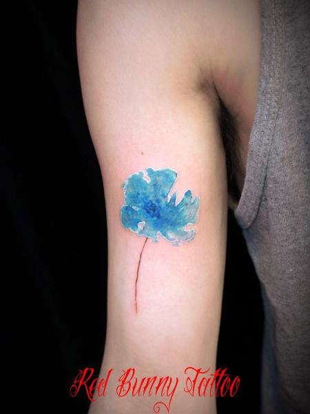 水彩画 花 タトゥーデザイン watercolor flower tattoo