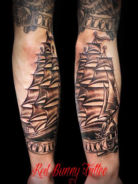 船 タトゥーデザイン ship tattoo