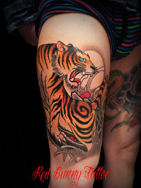 虎 刺青 タトゥーデザイン tiger tattoo 和彫り