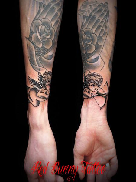 天使のタトゥーデザイン angel tattoo