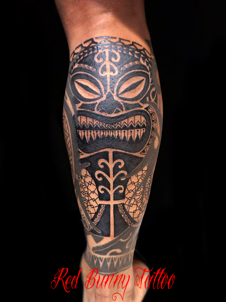 ハワイ・ポリネシアの神様 ティキのタトゥーデザイン tiki tattoo