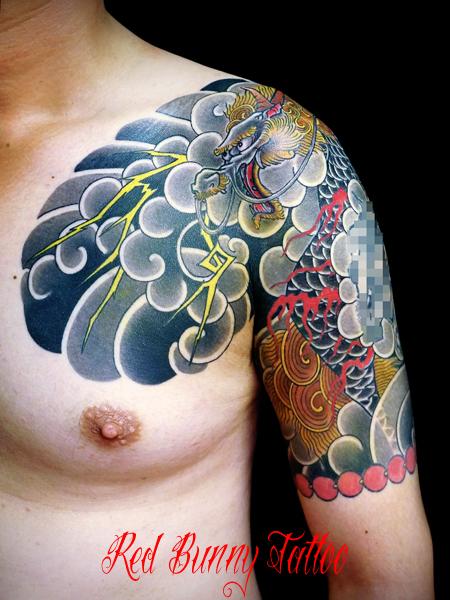 麒麟の刺青・和彫り japanese tattoo