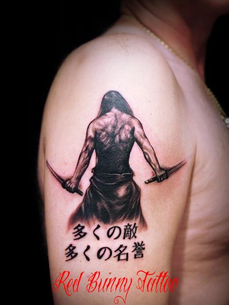 武士・侍のタトゥーデザイン samurai tattoo