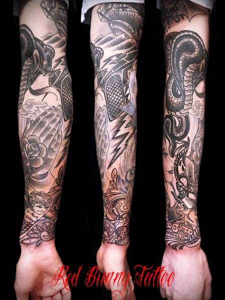 腕のタトゥーデザイン 吉祥寺 Redbunnytattoo