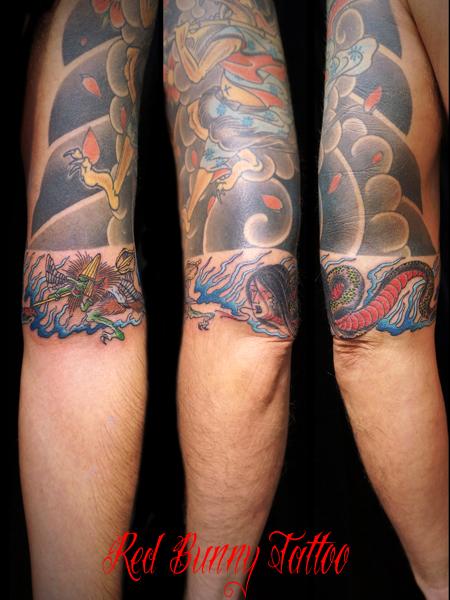妖怪・ヘビ女の刺青、タトゥーデザイン