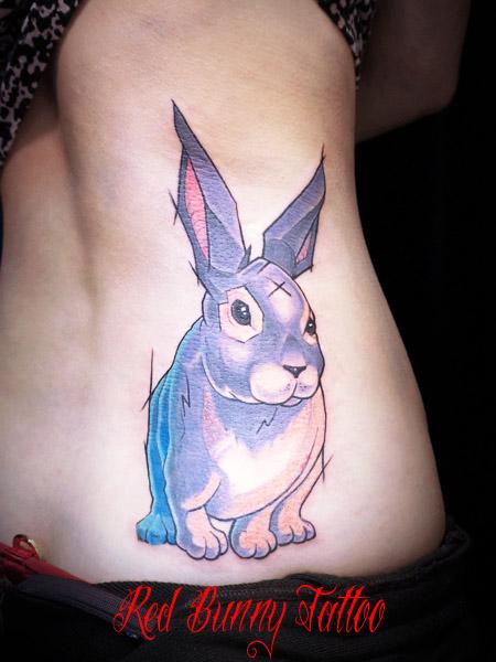 ウサギのタトゥーデザイン rabbit tattoo
