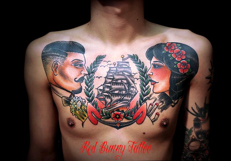 アメリカントラディショナル タトゥー 船 tattoo