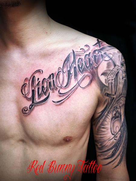 文字 スクリプト タトゥーデザイン letter tattoo