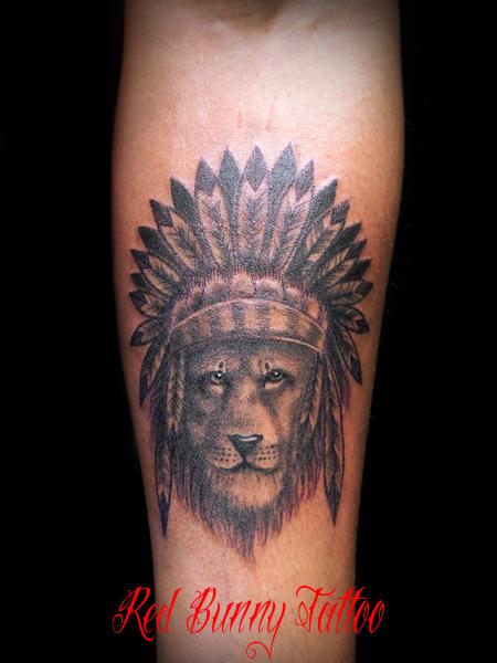 ライオンのタトゥーデザイン lion tattoo
