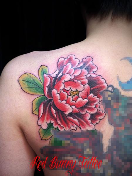 牡丹の刺青・タトゥーデザイン (花・植物)