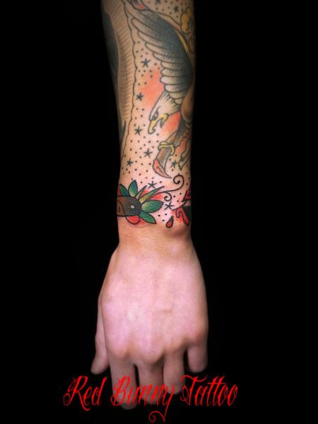 カミソリ・剃刀のタトゥーデザイン razor tattoo