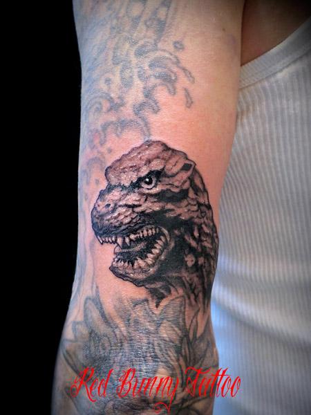ゴジラのタトゥーデザイン Godzilla Tattoo