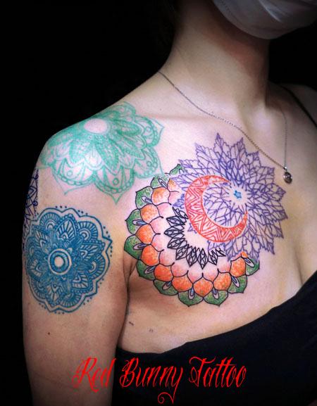 ヘナ・アラベスク模様・オリエント模様のタトゥーデザイン