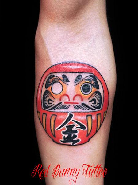 ダルマ・達磨の刺青・タトゥーデザイン daruma tattoo
