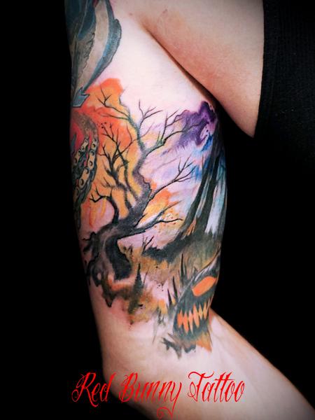 ハロウィーン タトゥーデザイン  halloween tattoo