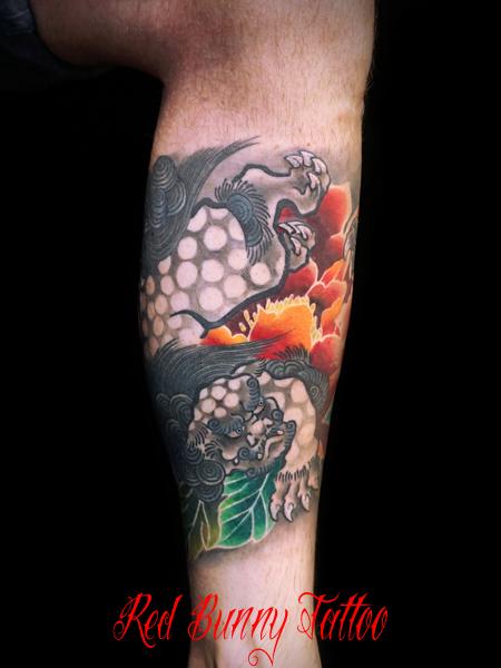 唐獅子牡丹の刺青・タトゥーデザイン