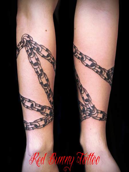 チェーン・鎖のタトゥーデザイン 画像