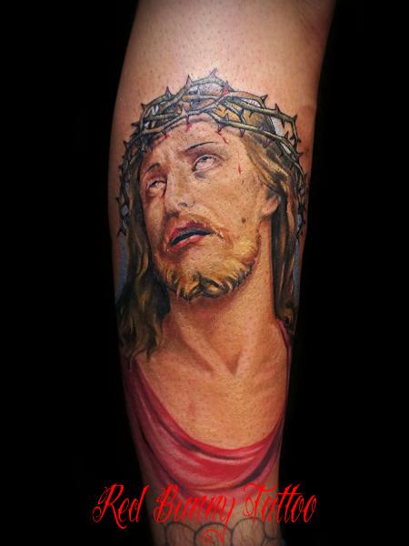 キリスト タトゥーデザイン カラーポートレート 宗教
