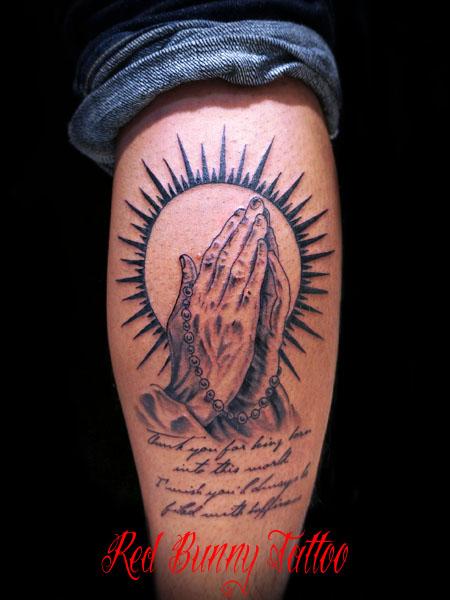 祈り手・プレイングハンズのタトゥーデザイン