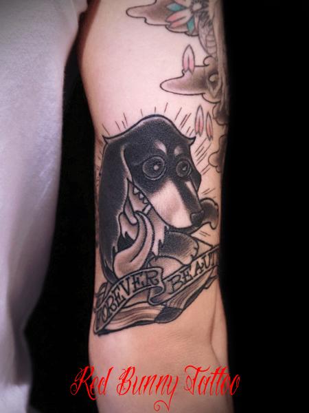 ペットの犬のタトゥーデザイン