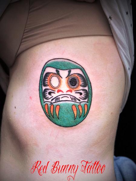ダルマの刺青・タトゥーデザイン daruma tattoo