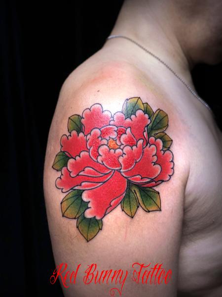 牡丹の刺青・タトゥーデザイン 和の花・japanese flower tattoo