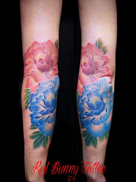 牡丹の刺青・タトゥーデザイン japanese peony flower tattoo