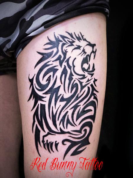 ライオン トライバル タトゥーデザイン lion tribal tattoo