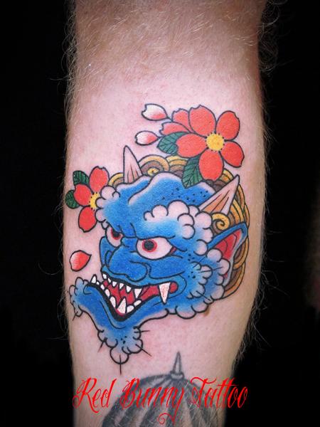 鬼の刺青・タトゥーデザイン japanese oni tattoo