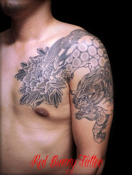 唐獅子牡丹の刺青・和彫り タトゥーデザイン japanese tattoo