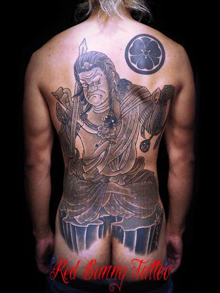 不動明王 刺青・和彫りのデザイン 背中一面 japanese style tattoo
