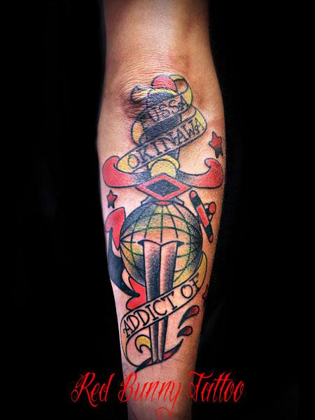 ダガー アメリカントラディショナル タトゥー okinawa tattoo