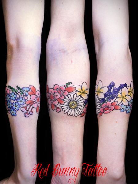 花のタトゥーデザイン Flower tattoo