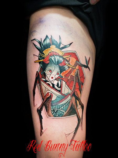 マグヌス タトゥーデザイン芸者 妖怪 geisha-tattoo-magnus
