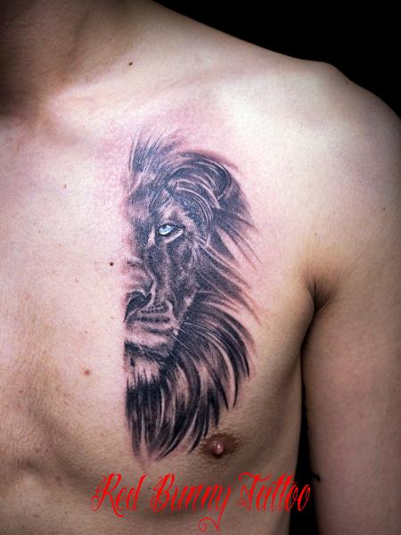 ライオン 動物 ポートレート タトゥーデザイン lion tattoo