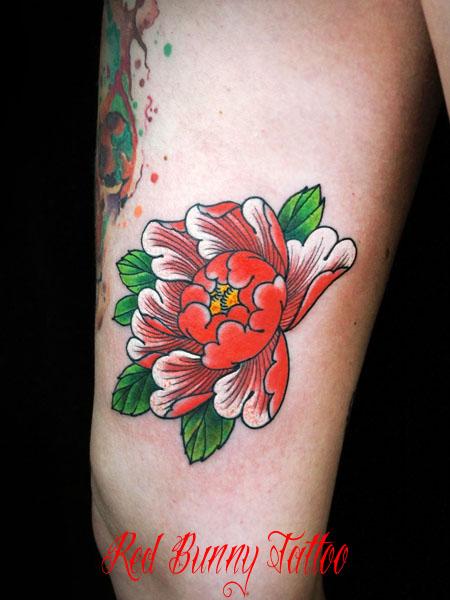 日本の花 牡丹 タトゥーデザイン peony tattoo japanese flower