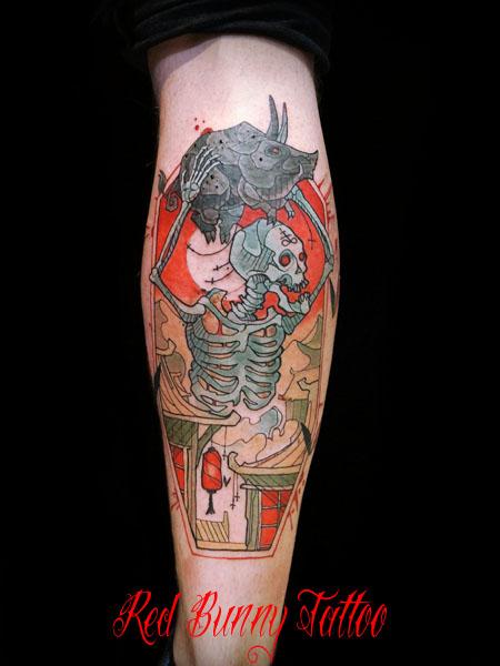 スケルトン タトゥーデザイン スカル skelton tattoo magnus