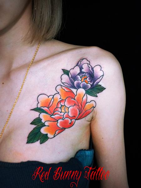 牡丹の刺青・タトゥーデザイン 女性の刺青 japanese tattoo