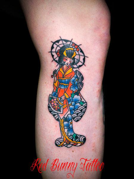 芸者 タトゥーデザイン アメリカントラディショナル geisha tattoo